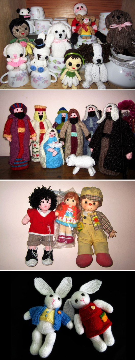 2. Mom's amigurumi knitted nativity knitted dolls